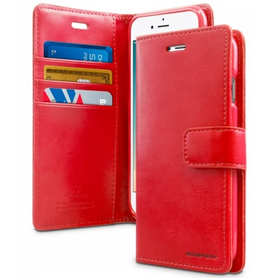 iPhone 7 / iPhone 8 Case Bluemoon Wallet- Red